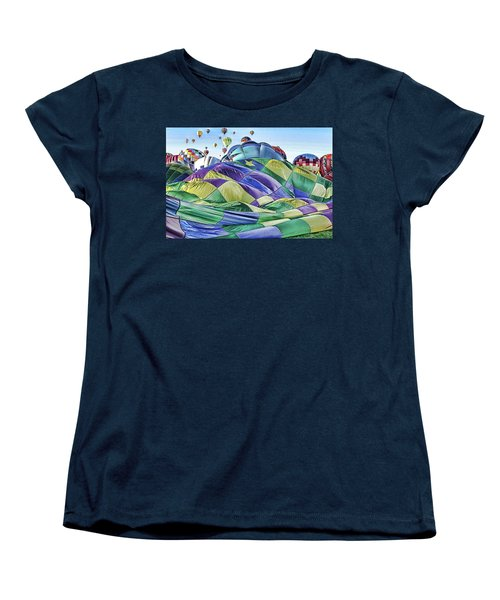 Women's T-Shirt (Standard Cut) featuring the photograph Ballooning Waves by Marie Leslie