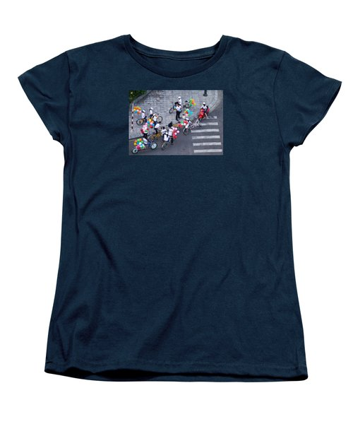 Balloons And Bikes Women's T-Shirt (Standard Cut) by Cameron Wood