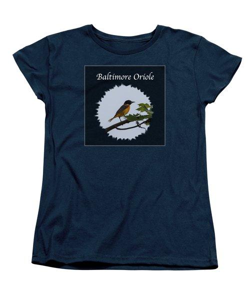 Baltimore Oriole  Women's T-Shirt (Standard Cut) by Jan M Holden