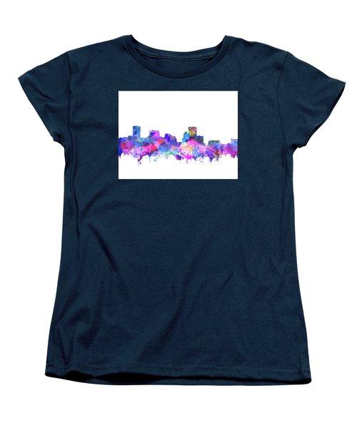 Women's T-Shirt (Standard Cut) featuring the painting Baltimore Skyline Watercolor 4 by Bekim Art