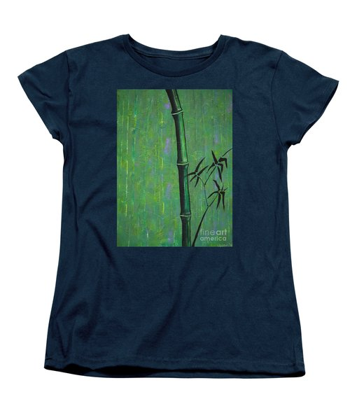Women's T-Shirt (Standard Cut) featuring the painting Bamboo by Jacqueline Athmann