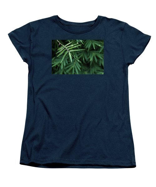 Bamboo Leaves Background Women's T-Shirt (Standard Cut) by Jingjits Photography