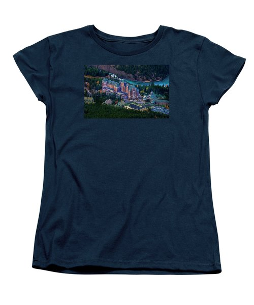 Women's T-Shirt (Standard Cut) featuring the photograph Banff Springs Hotel by John Poon