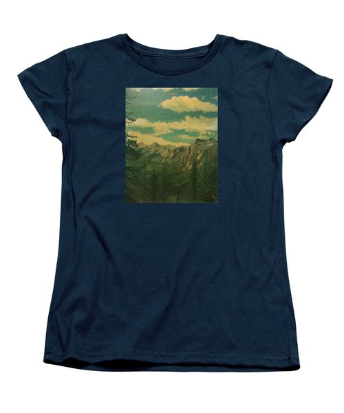 Women's T-Shirt (Standard Cut) featuring the painting Banff by Terry Frederick