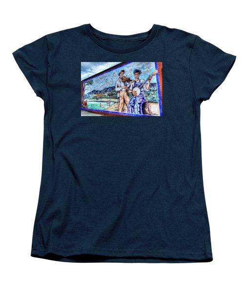 Banjo Mural Women's T-Shirt (Standard Cut) by Dale R Carlson