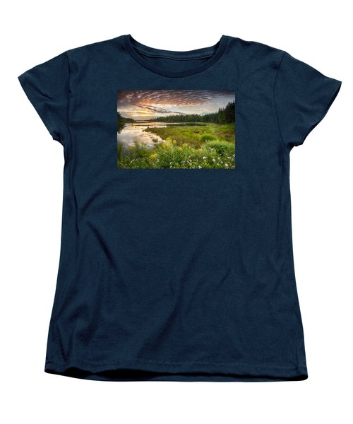 Women's T-Shirt (Standard Cut) featuring the photograph Bar Harbor Maine Sunset One by Kevin Blackburn