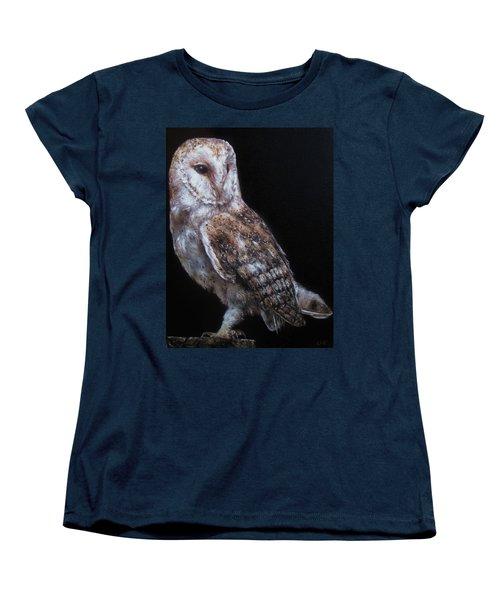 Barn Owl Women's T-Shirt (Standard Cut) by Cherise Foster