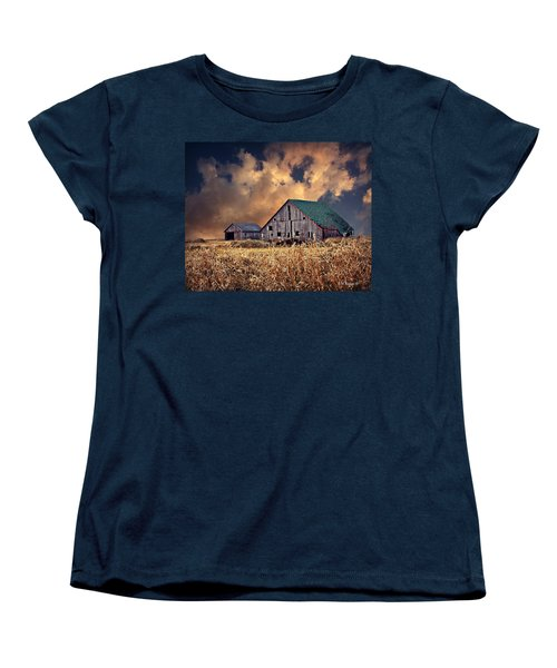Barn Surrounded With Beauty Women's T-Shirt (Standard Cut) by Kathy M Krause