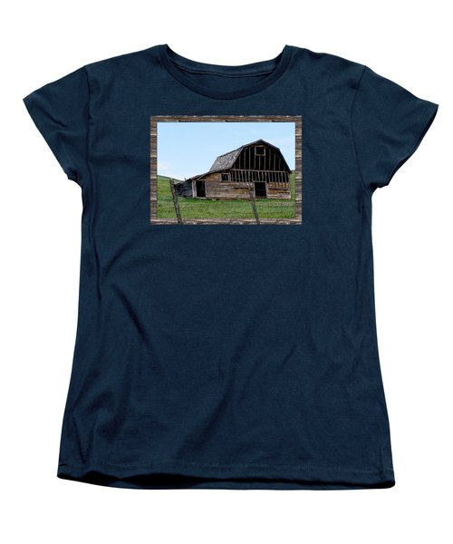 Women's T-Shirt (Standard Cut) featuring the photograph Barn by Susan Kinney