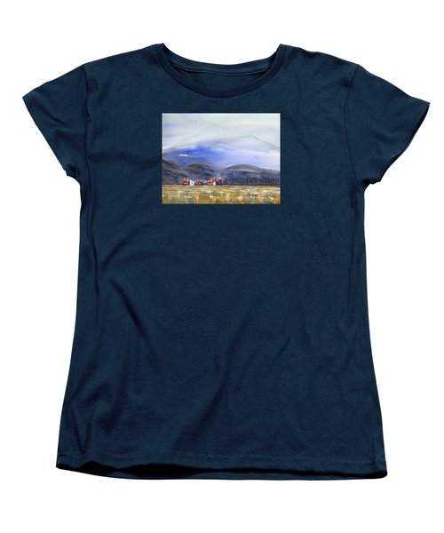 Barns In The Valley Women's T-Shirt (Standard Cut) by Frank Bright