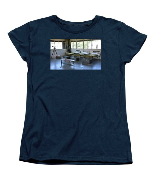 Barrack Interior At Fort Miles - Delaware Women's T-Shirt (Standard Cut) by Brendan Reals