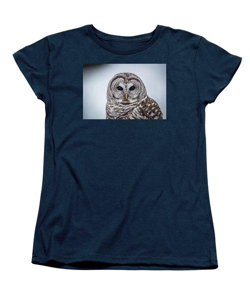 Women's T-Shirt (Standard Cut) featuring the photograph Barred Owl by Paul Freidlund