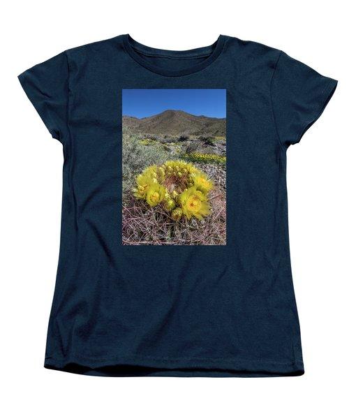 Women's T-Shirt (Standard Cut) featuring the photograph Barrel Cactus Super Bloom by Peter Tellone