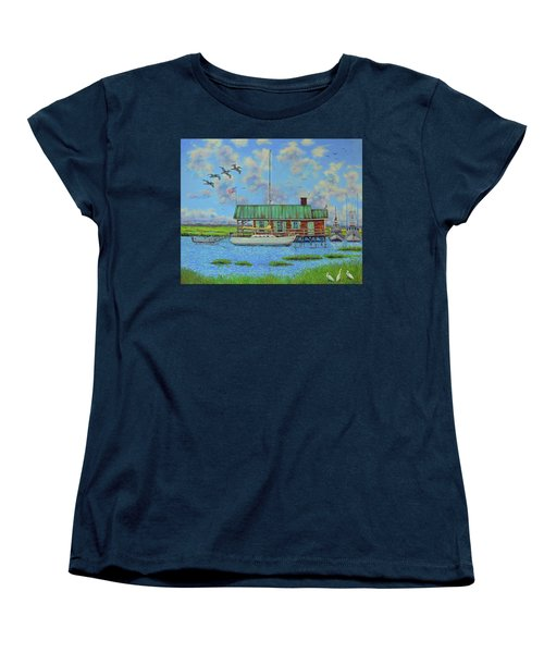 Barriar Island Boathouse Women's T-Shirt (Standard Cut) by Dwain Ray