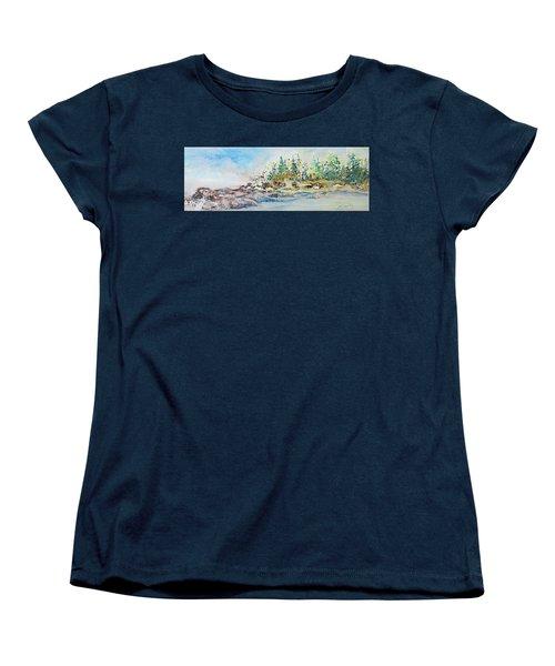 Barrier Bay Women's T-Shirt (Standard Cut) by Joanne Smoley