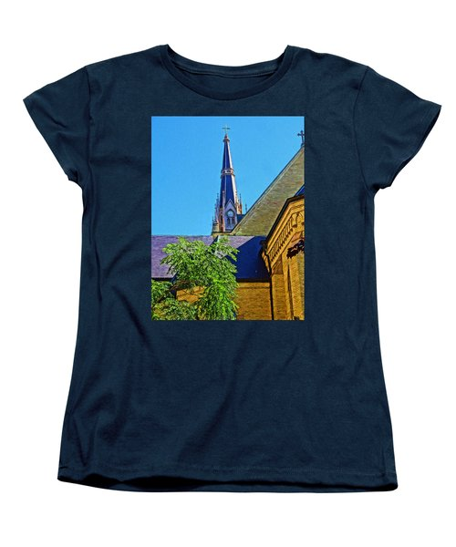 Basilica Of The Sacred Heart Notre Dame Women's T-Shirt (Standard Cut) by Dan Sproul