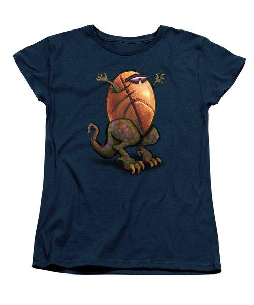 Basketball Saurus Rex Women's T-Shirt (Standard Cut) by Kevin Middleton