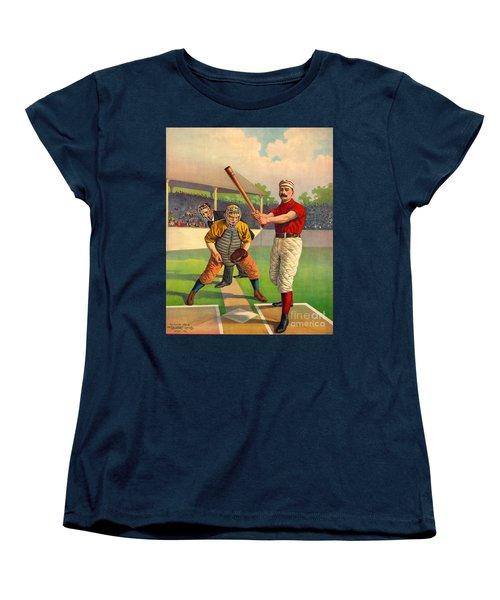 Batter Up 1895 Women's T-Shirt (Standard Cut) by Padre Art