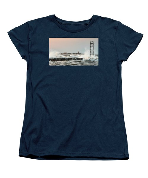 Battering The Shark River Inlet Women's T-Shirt (Standard Cut) by Gary Slawsky
