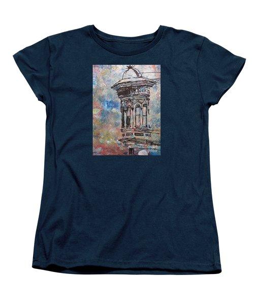 Women's T-Shirt (Standard Cut) featuring the mixed media Bay Window by John Fish