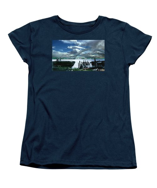 Bayonne Bridge Women's T-Shirt (Standard Cut) by Steve Karol