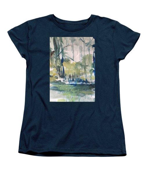 Bayou Blues Abstract Women's T-Shirt (Standard Cut) by Robin Miller-Bookhout