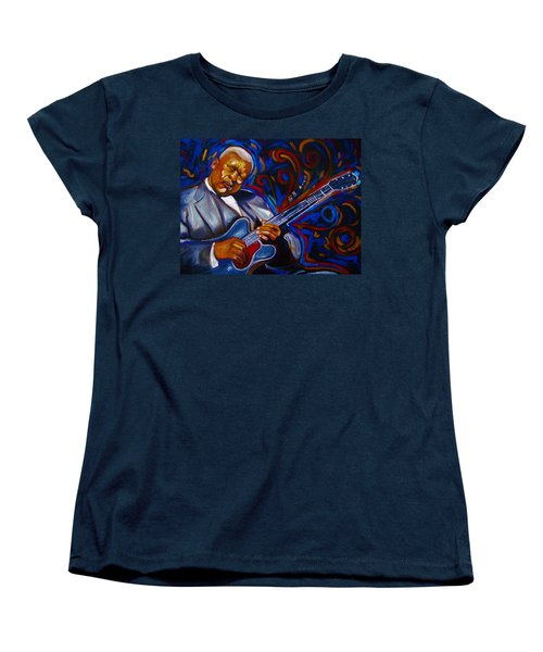 Women's T-Shirt (Standard Cut) featuring the painting b.b KING by Emery Franklin