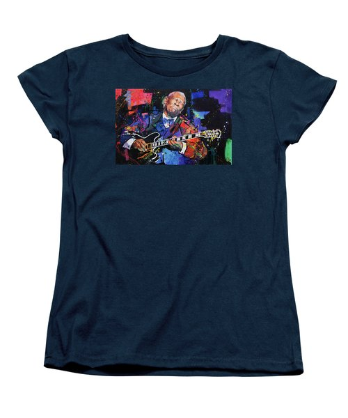Bb King Women's T-Shirt (Standard Cut) by Richard Day