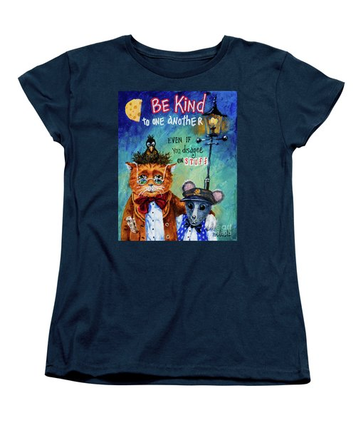 Women's T-Shirt (Standard Cut) featuring the painting Be Kind by Igor Postash