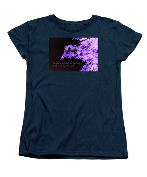 Be Kind Women's T-Shirt (Standard Cut) by Susan Lafleur
