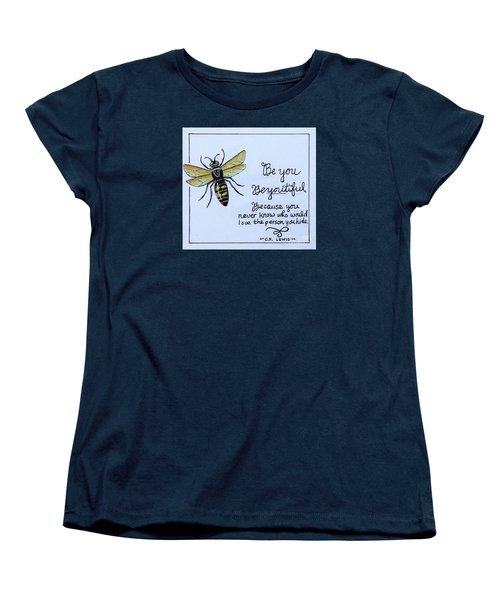 Women's T-Shirt (Standard Cut) featuring the painting Be You by Elizabeth Robinette Tyndall