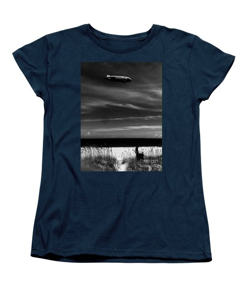 Beach Blimp Women's T-Shirt (Standard Cut) by WaLdEmAr BoRrErO