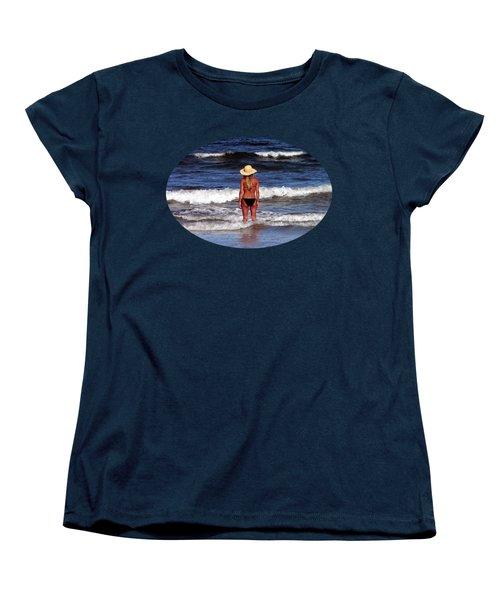 Women's T-Shirt (Standard Cut) featuring the photograph Beach Blonde .png by Al Powell Photography USA