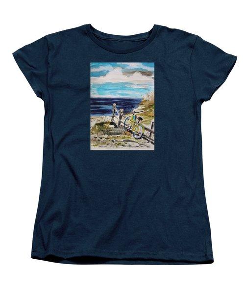 Beach Cruiser Women's T-Shirt (Standard Cut) by John Williams