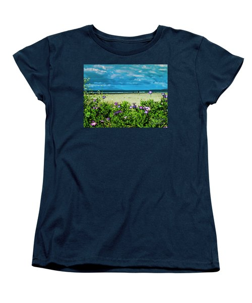 Beach Daisies Women's T-Shirt (Standard Cut) by Karen Lewis