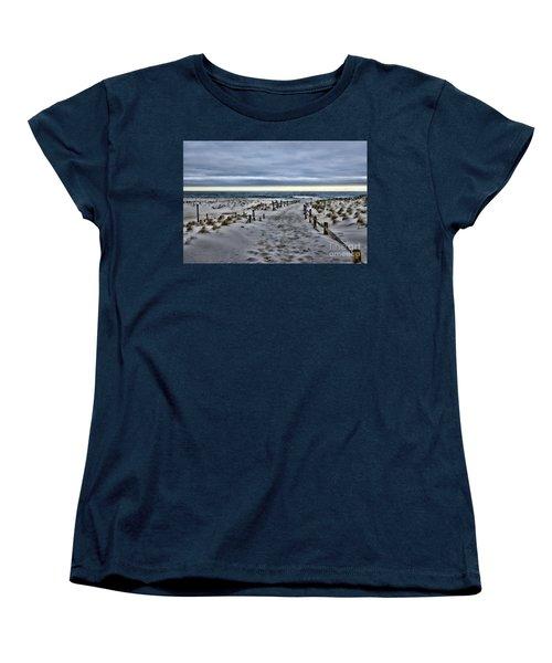 Women's T-Shirt (Standard Cut) featuring the photograph Beach Entry by Paul Ward