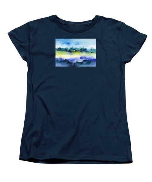 Beach Hut Abstract Women's T-Shirt (Standard Cut) by Frank Bright