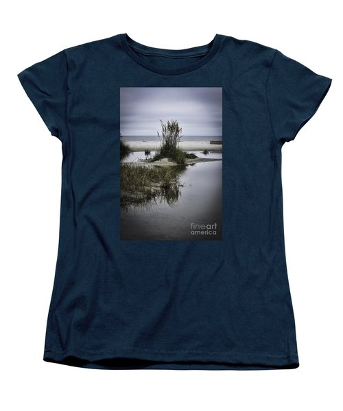Women's T-Shirt (Standard Cut) featuring the photograph Beach Island by Judy Wolinsky