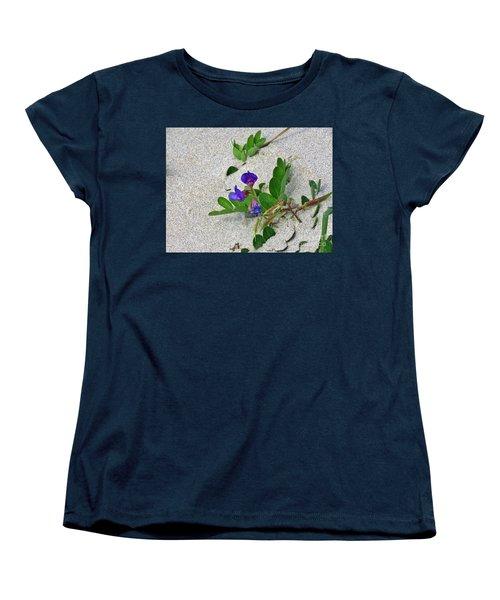 Beach Pea Vine Women's T-Shirt (Standard Cut) by Michele Penner