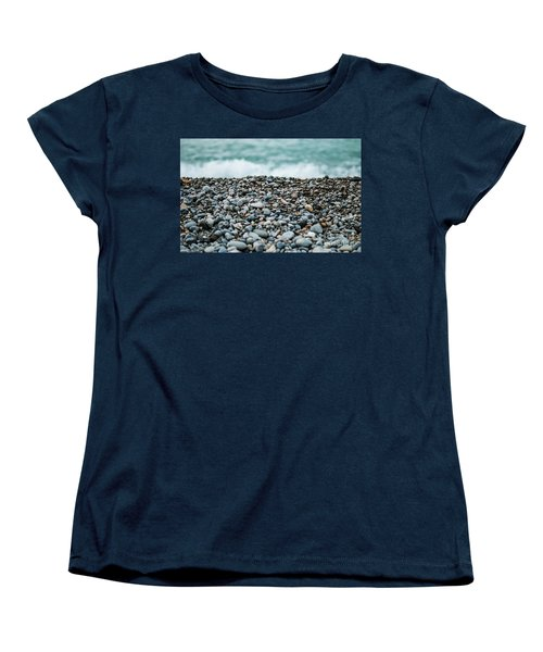 Women's T-Shirt (Standard Cut) featuring the photograph Beach Pebbles by MGL Meiklejohn Graphics Licensing