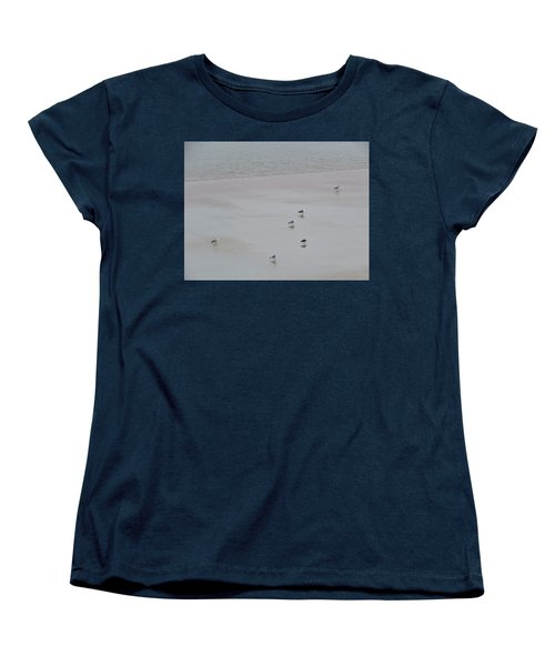 Beach Seagulls Women's T-Shirt (Standard Cut) by Kathy Long