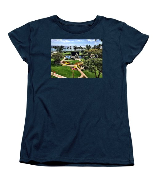 Women's T-Shirt (Standard Cut) featuring the photograph Beach Steeple by Michael Albright