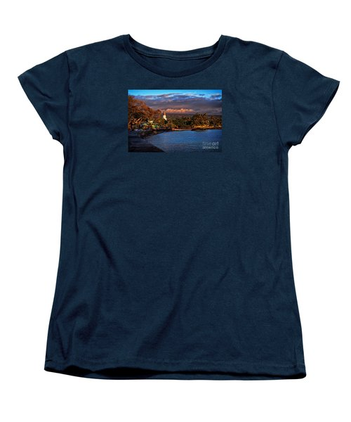 Beach Town Of Kailua-kona On The Big Island Of Hawaii Women's T-Shirt (Standard Cut) by Sam Antonio Photography