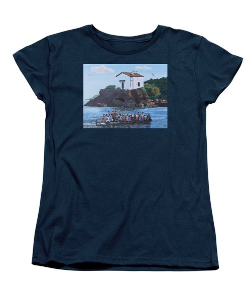 Women's T-Shirt (Standard Cut) featuring the painting Beacon Of Hope by Eric Kempson