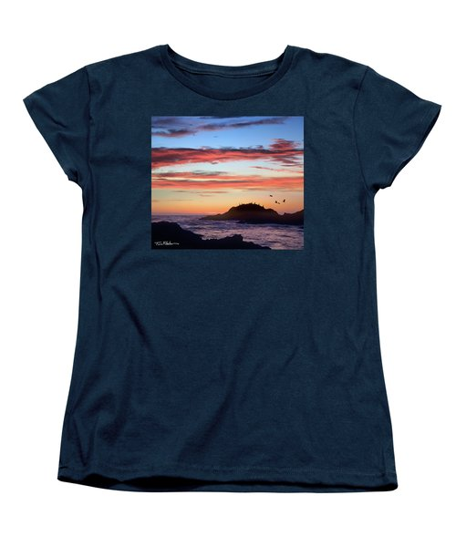 Bean Hollow Beach Women's T-Shirt (Standard Cut) by Tim Fitzharris