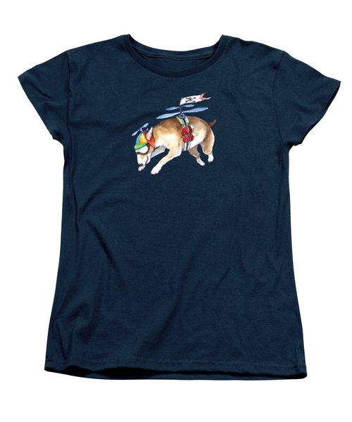 Women's T-Shirt (Standard Cut) featuring the painting Beanie Bully  by Jindra Noewi