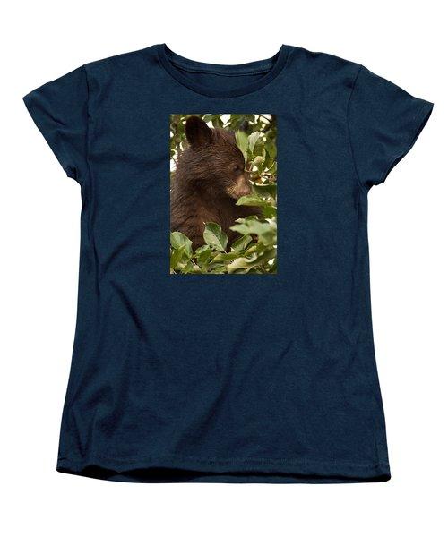 Bear Cub In Apple Tree3 Women's T-Shirt (Standard Cut) by Loni Collins