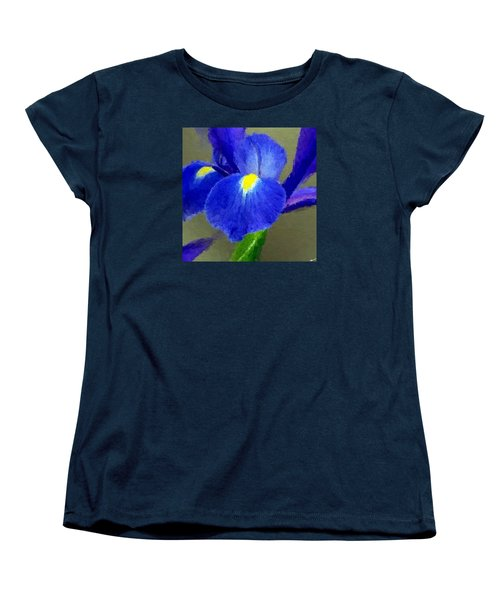 Women's T-Shirt (Standard Cut) featuring the digital art Bearded Iris by Anthony Fishburne