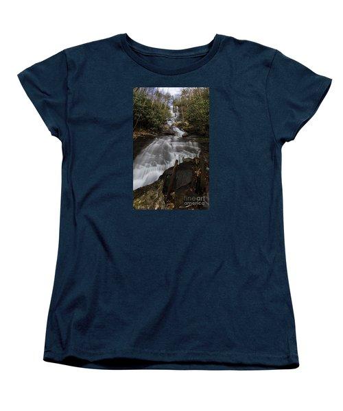 Women's T-Shirt (Standard Cut) featuring the photograph Bearden Falls Vertical by Barbara Bowen
