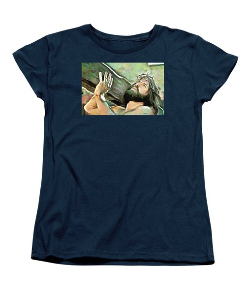 Bearing The Cross Women's T-Shirt (Standard Cut) by Wayne Pascall